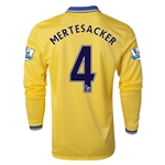 Arsenal 13/14 MERTESACKER LS Away Soccer Jersey