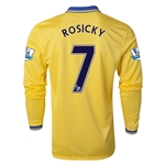 Arsenal 13/14 ROSICKY LS Away Soccer Jersey