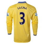Arsenal 13/14 SAGNA LS Away Soccer Jersey