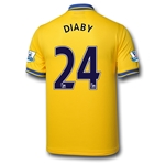 Arsenal 13/14 DIABY Away Soccer Jersey