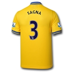 Arsenal 13/14 SAGNA Away Soccer Jersey