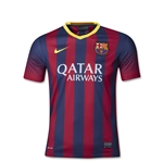 Barcelona 13/14 Youth Home Soccer Jersey