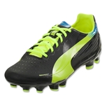 PUMA evoSPEED 3.2 FG JR (Black/Fluorescent Yellow)