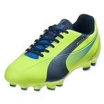 PUMA Women's evoSPEED 4 FG (Fluo Yellow/Brilliant Blue/Poseidon)
