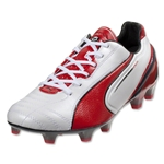 PUMA King SL FG (Metallic White/High Risk Red/Black)