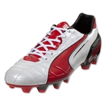 PUMA King FG (Metallic White/High Risk Red/Black)