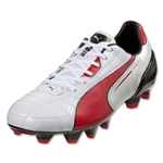 PUMA Momentta FG (Metallic White/High Risk Red/Black)