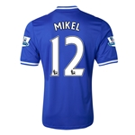 Chelsea 13/14 12 MIKEL Home Soccer Jersy