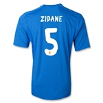 Real Madrid 13/14 ZIDANE Away Soccer Jersey