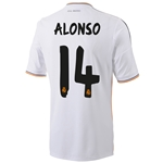 Real Madrid 13/14 ALONSO Home Soccer Jersey