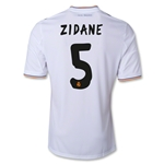 Real Madrid 13/14 ZIDANE Home Soccer Jersey