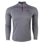 Under Armour Tech 1/4 Long Sleeve T-Shirt (Gray/Red)