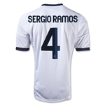 Real Madrid 12/13 Sergio Ramos Home Soccer Jersey