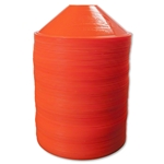 Silver Disc Cone-Set of 100 (Orange)
