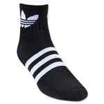 adidas Originals Trefoil Quarter Sock (Blk/Wht)