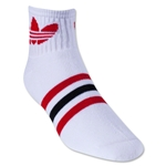 adidas Originals Trefoil Quarter Sock (Wh/Bk)