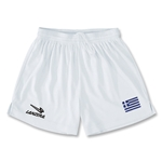 Greece Primera Soccer Shorts (White)