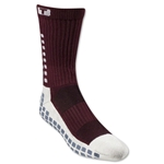 TRUSOX Crew Length Sock-Cushion (Maroon)