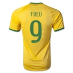 Brazil 2014 FRED Authentic Home Soccer Jersey
