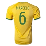 Brazil 2014 MARCELO Authentic Home Soccer Jersey