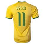 Brazil 14/15 OSCAR Authentic Home Soccer Jersey