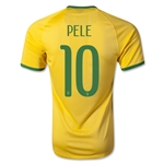 Brazil 14/15 PELE Authentic Home Soccer Jersey