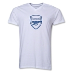 Arsenal Crest Men's V-Neck T-Shirt (White)