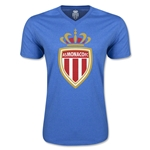 AS Monaco Soccer V-Neck T-Shirt (Heather Royal)