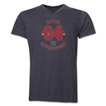Bayer Leverkusen V-Neck T-Shirt (Dark Gray)
