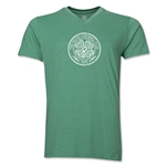 Celtic Distressed V-Neck T-Shirt (Heather Green)