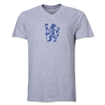 Chelsea Distressed Lion V-Neck T-Shirt (Gray)