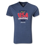 USA CONCACAF Gold Cup 2013 Champions V-Neck (Heather Navy)