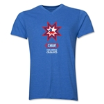 Chile Copa America 2015 Banderas V-Neck T-Shirt (Heather Royal)