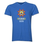 Ecuador Copa America 2015 Banderas V-Neck T-Shirt (Heather Royal)