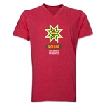 Bolivia Copa America 2015 Banderas V-Neck T-Shirt (Heather Red)