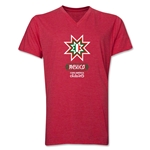 Mexico Copa America 2015 Banderas V-Neck T-Shirt (Heather Royal)