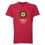Jamaica Copa America 2015 Banderas V-Neck T-Shirt (Heather Royal)