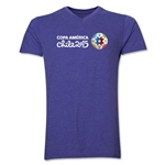 Copa America 2015 Core Landscape V-Neck T-Shirt (Heather Purple)