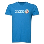 Copa America 2015 Core Landscape V-Neck T-Shirt (Heather Turquoise)