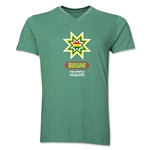 Bolivia Copa America 2015 Banderas V-Neck T-Shirt (Heather Green)