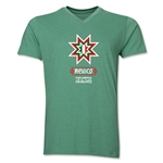 Mexico Copa America 2015 Banderas V-Neck T-Shirt (Heather Green)
