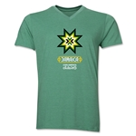 Jamaica Copa America 2015 Banderas V-Neck T-Shirt (Heather Green)