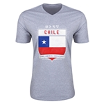Chile Copa America 2015 Shield V-Neck T-Shirt (Grey)