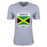 Jamaica Copa America 2015 Shield V-Neck T-Shirt (Grey)