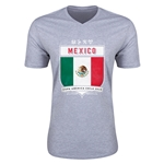 Mexico Copa America 2015 Shield V-Neck T-Shirt (Grey)