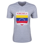 Venezuela Copa America 2015 Shield V-Neck T-Shirt (Grey)