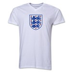 England Core V-Neck T-Shirt (White)