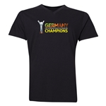 Germany FIFA U-20 Women's World Cup Canada 2014 Champions V-Neck T-Shirt (Black)