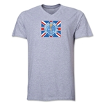1966 FIFA World Cup Emblem Poster V-Neck T-Shirt (Grey)