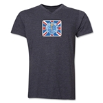 1966 FIFA World Cup Emblem Poster V-Neck T-Shirt (Dark Grey)